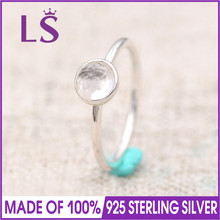 LS 100% 925 Sterling Silver April May June Droplet Birthstone Ring For Women DIY Fashion Rings.Christmas Gifts.Wedding Rings N