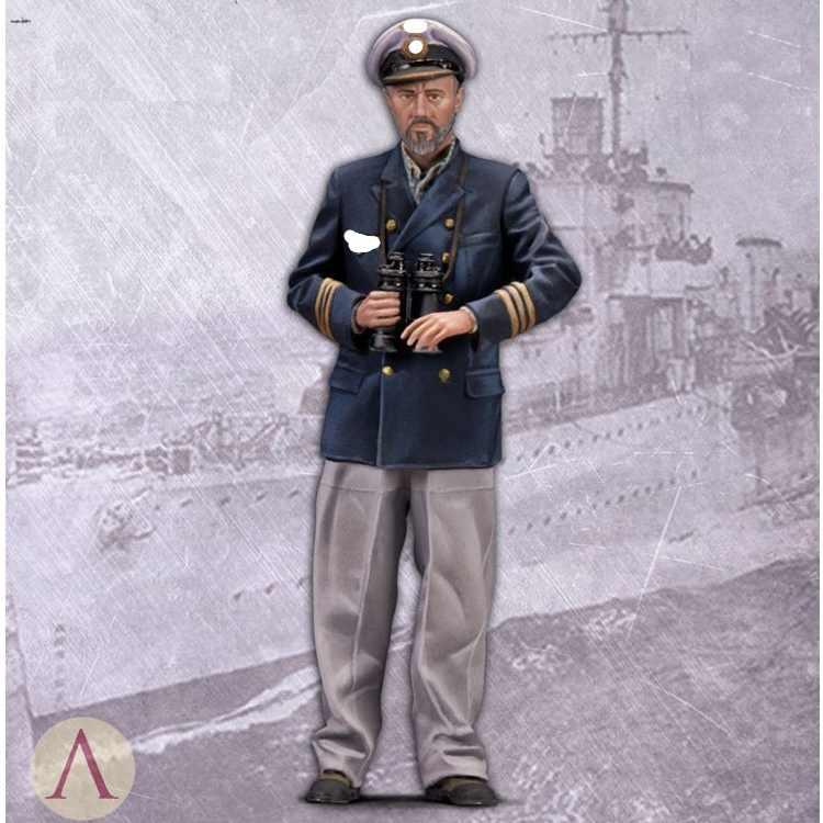 1/35 шкала resin смола фигура U-Boat commander Коллекционная фигурка