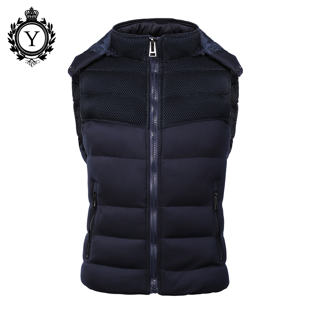 COUTUDI 인기 남성 자켓 민소매 veste homme 겨울 패션 캐주얼 코트 남성 두건 코튼 패딩 남성 조끼 아래로 Jakets