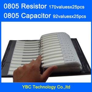 Image 1 - 0805 SMD резистор 0R ~ 10M 1% 4250 значение x 25 шт. = 2300 шт. + конденсатор шт. x 25 шт. = шт. пФ ~ 10 мкФ образец