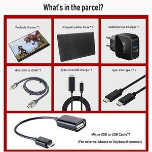 Image 5 - 15.6 cal monitor z ekranem dotykowym przenośny ultracienkich 1080P HDR IPS HD rodzaj usb C wyświetlający informacje o laptop telefon XBOX przełącznik i PS4