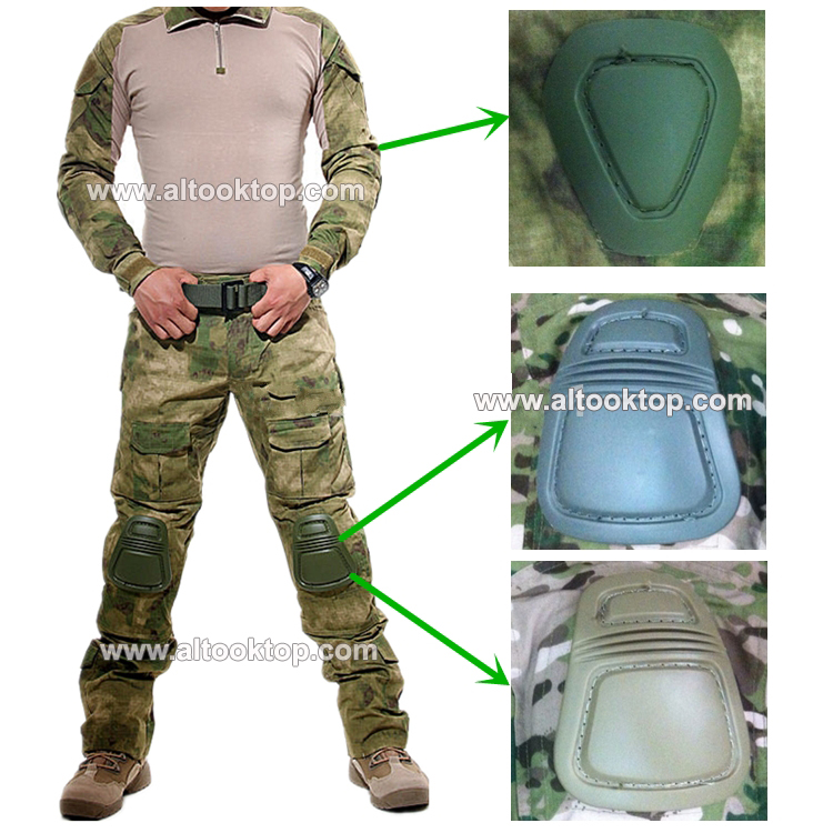 Military uniform clothing multicam camo combat shirt tactical pants knee pads paintball equipment clothes camouflage swat black
