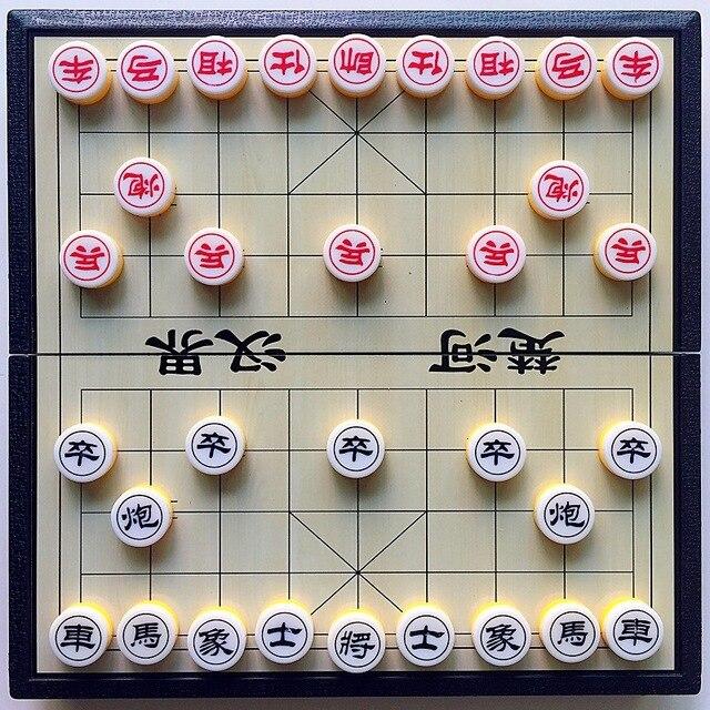 Xiangqi jeu d'échecs chinois magnétique, Portable et pliable, pour enfants et adultes 6