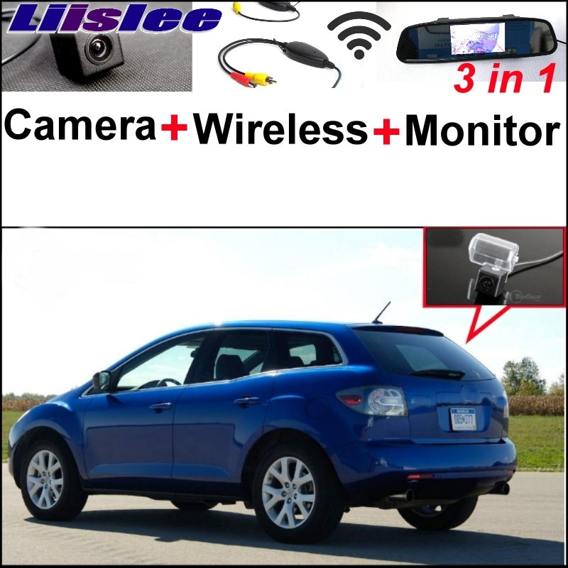 Liislee 3 in1 Special Rear View Camera + Wireless Receiver + Mirror Monitor Parking System For Mazda CX-7 CX7 CX 7 2007~2013 liislee 3 in1 special rear view camera wireless receiver mirror monitor diy parking system for mazda cx 3 cx 3 cx3 2014 2017