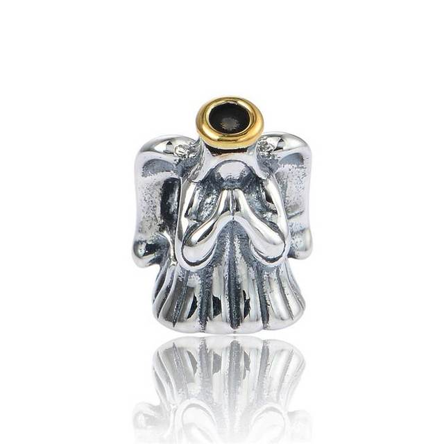 halo angel christmas charms 925 sterling silver winter new