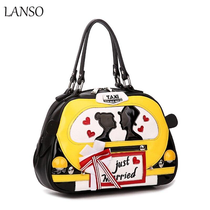 ФОТО New Handbags Women 's Car Models Creative Travel Handbag Women' s Leisure Bag Portable Diagonal Bag Sweet Female Bags