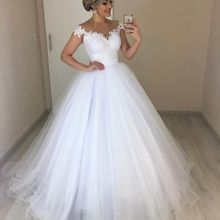 LaRovias Wedding Dress 2019 Cap Sleeves Dresses For