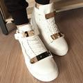 2016 fashion ankle boots elegant punk zapatos casuales zapatos high-top de los hombres botas altas envío libre