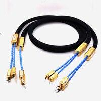 Бесплатная доставка HI End Тройной Короны Audiophile Spade Plug Динамик кабель без коробки