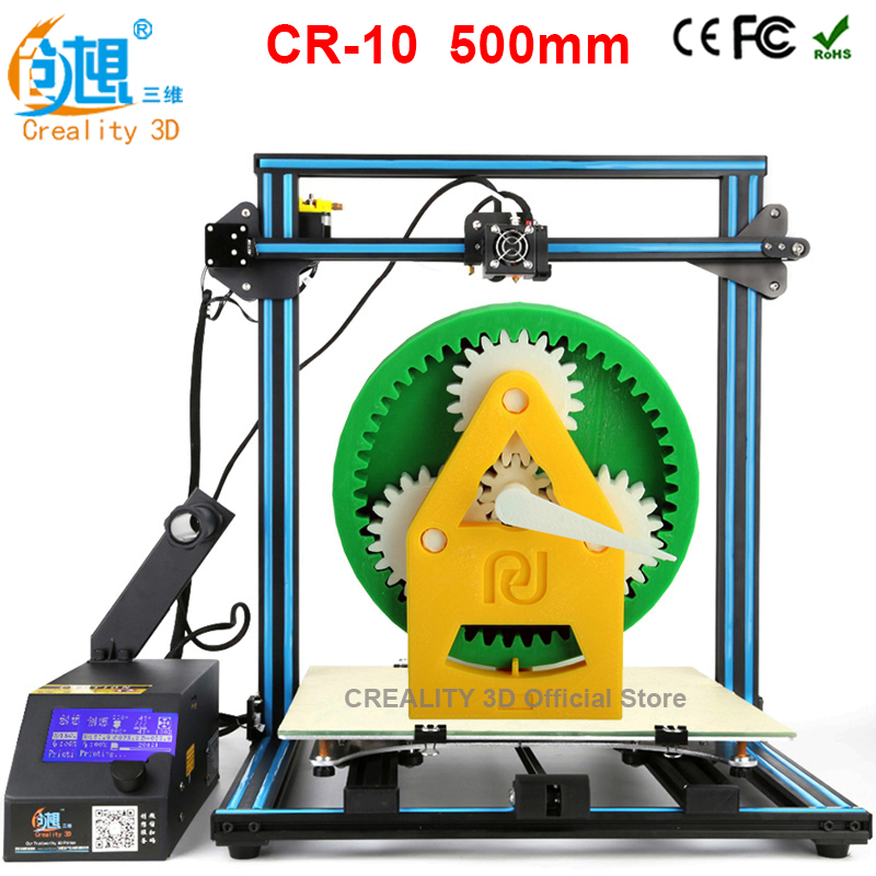 CREALITY 3D de Gran Tamaño de La Impresora 3D 500*500*500mm DIY Kit Lecho Calien