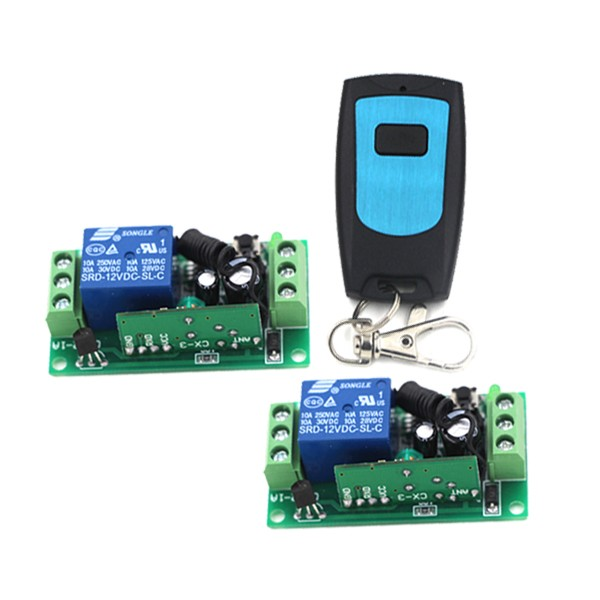 Wireless Remote control Switch DC 12V RF Remote Switch Remote ON/OFF 2 Receivers & 1 Transmitter SKU: 5190 2 receivers 60 buzzers wireless restaurant buzzer caller table call calling button waiter pager system
