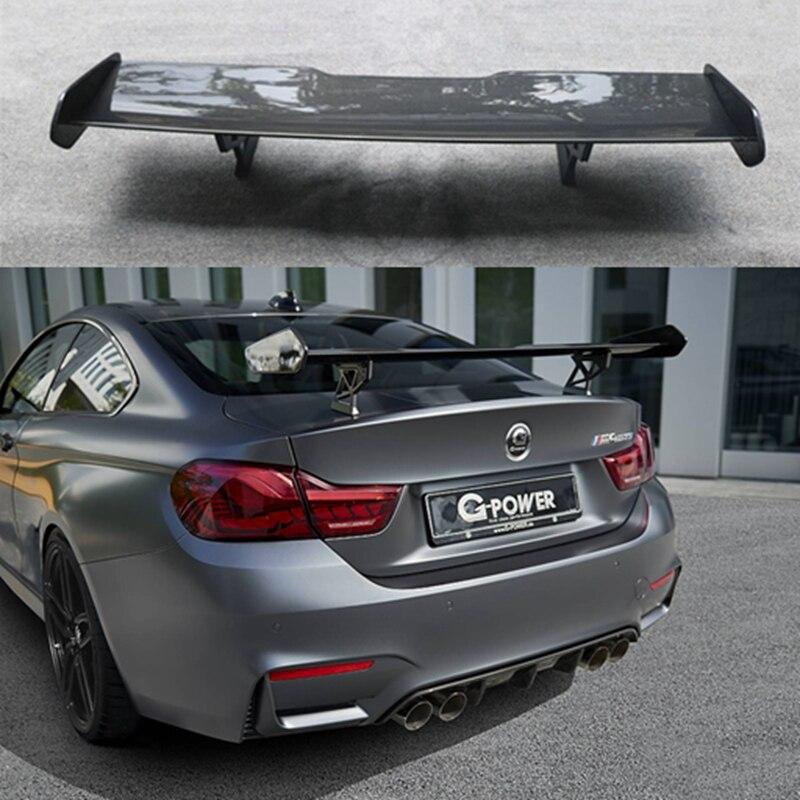 F82 M4 GTS style fiber de carbone aileron arrière de voiture tronc lèvre aileron de démarrage automatique pour BMW seulement F82 voiture style accessoires de voiture