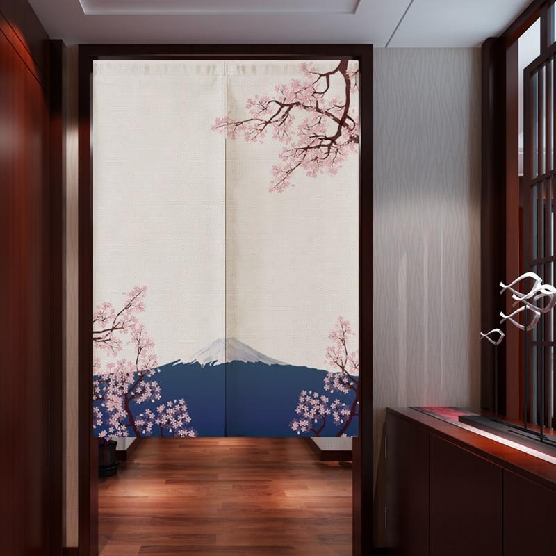 Japanese Landscape Bedroom Kitchen Curtains Home Decor Linen Door Curtain Noren Customizable Curtain Curtains Aliexpress