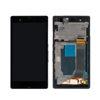10PCS Lot LCD Touch Screen With Frame For SONY Xperia Z L36H C6603 C6602 Display Digitizer