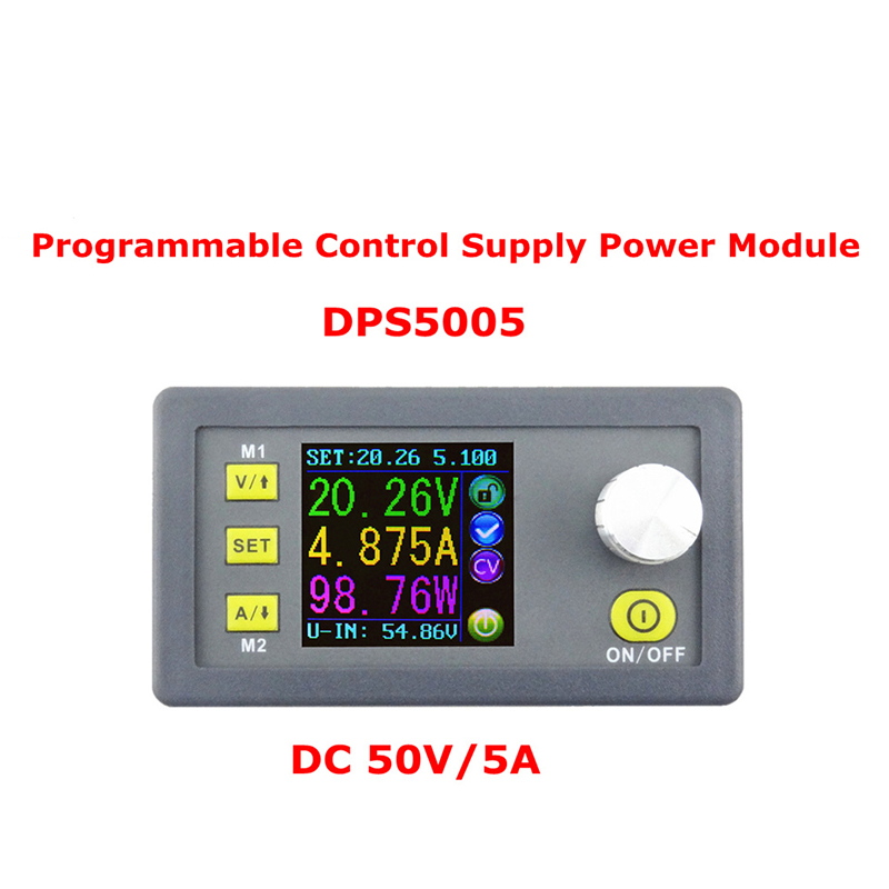 DPS5005 Constant Voltage current Step-down Programmable Power Supply module buck Voltage converter color LCD voltmeter dps3012 adjustable constant voltage step down lcd power supply module voltmeter voltage regulators stabilizers best quality