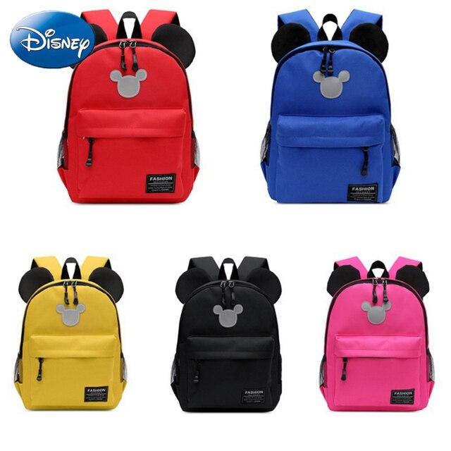 Disney Children School Bag Mickey Minnie Mouse Boys Girls Cute Kids