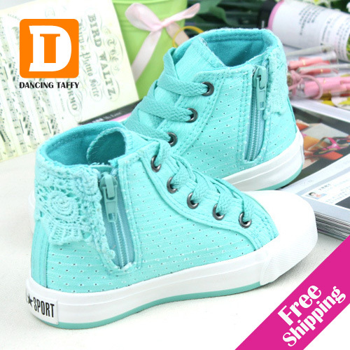Breathable Girls Shoes 2017 New Children Shoes Kids Casual Spring Summer Children Sneakers Canvas Hole Colorful Girls Sneakers