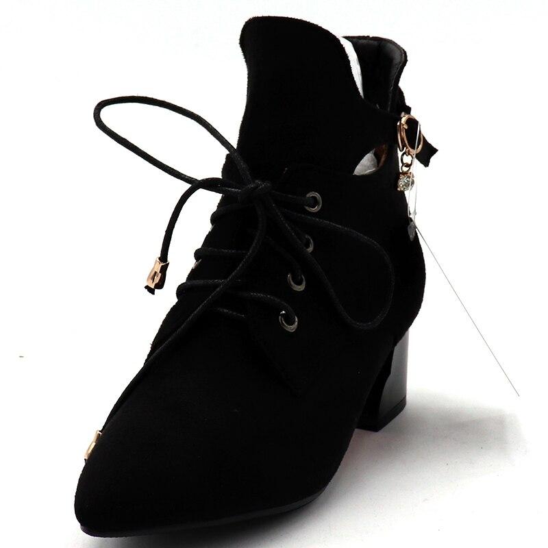 amarillo Gran Tacón Tamaño Negro Tinto Nuevo Tobillo Botas Invierno De Niñas Zapatos La Las vino Cuadrado Moda Mujeres Plataforma Anmairon Gusano fUwqnC4CA