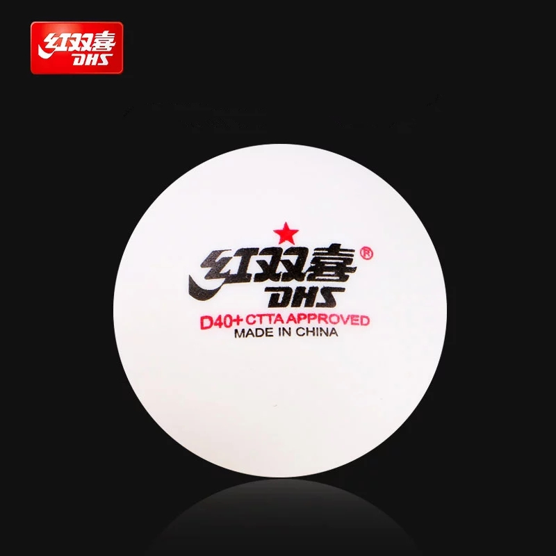DHS 50/100 Balls Table Tennis Balls D40+ Balls For Table Tennis Training New Material Seamed 40 Poly Plastic Ping Pong Balls