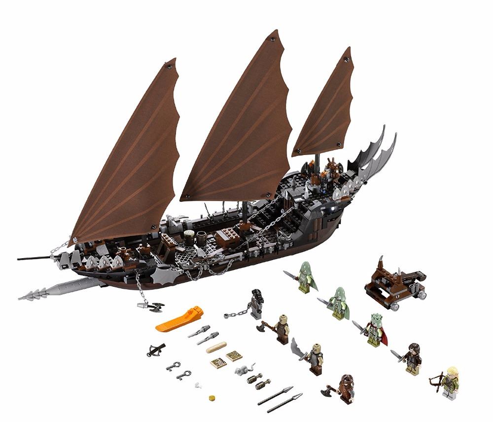 ФОТО 16018 The lord of the rings Pirate Ship Ambush Building Block Set Aragorn King of the dead figures 79008 Compatible