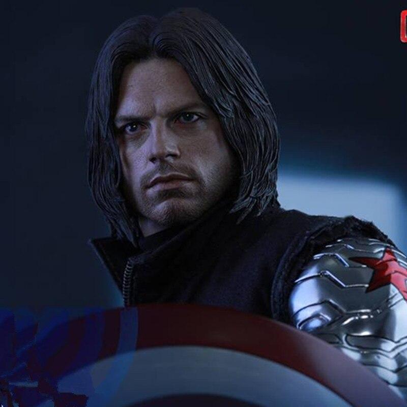 Мстители: Бесконечность зима статуя солдата Капитан Америка Супергерой баки Барнс ПВХ фигурку Коллекционная модель игрушки L2219