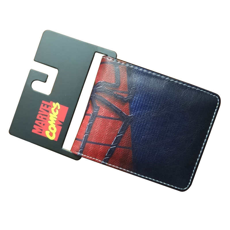 Comics DC Marvel Spiderman Wallets Foreign Trade Leather Purse Cartoon Anime Spider Card Holder Bags 4.5 inch Wallet carteras pokemon go print purse anime cartoon pikachu wallet pocket monster johnny turtle ibrahimovic zero pen pencil bag leather wallets