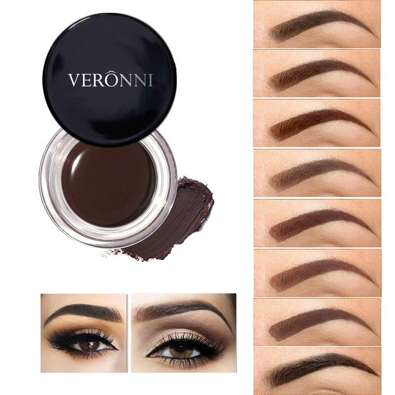 2017 New Brand Eyebrow Enhancer Gel Makeup Long Lasting Natural Pigment Coffee Brown Color Waterproof Eyebrow Tattoo Cream