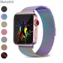 stainless steel bracelet for apple watch band 42mm 38mm apple watch 4 band 44mm 40mm milanese loop strap for iwatch belt 4/3/2/1 лампочка gauss led g4 4w ac185 265v 4100k 107307204
