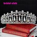 2016 Nova Princesa Diana Coroa de Cristal e Pérola para Acessórios de Cabelo de Noiva e Tiara De Noiva