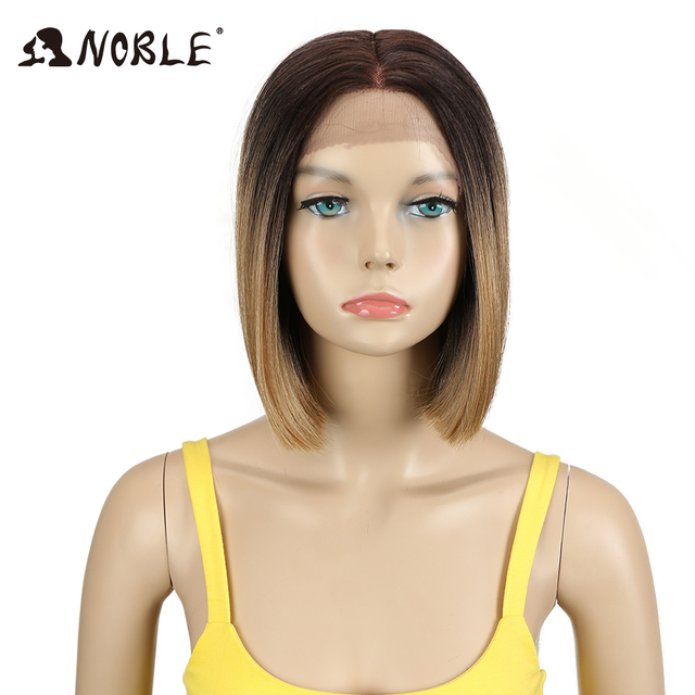 Noble Wig For Black Women 10 Inch Straight Hair Heat Resistant Elastic Lace  Synthetic Wigs Cosplay Synthetic Lace Front Wig 5de76c57eb