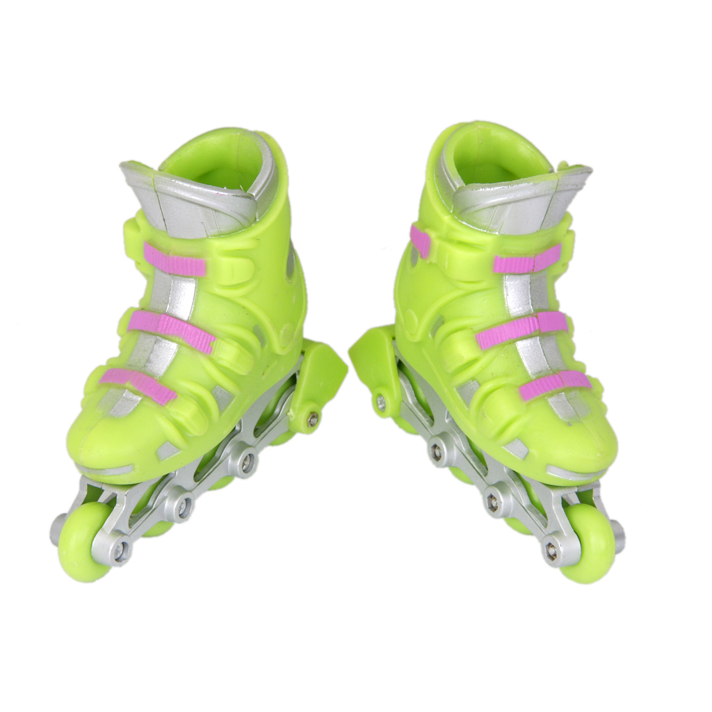 Roller skating shoes price in pakistan - 1pair Abs Plastic Finger Roller Skates Sport Games Kids Excellent Collection Gift Doll Accessory Dollhouse Decroation