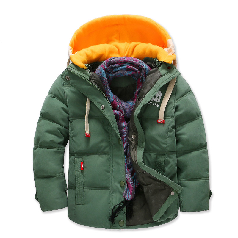 Children Jackets Boys Girls Winter down coat Baby Christmas Winter Coat Kids Thick warm Hooded Coat snowsuit Overcoat Clothes christmas horn button hooded handkerchief coat