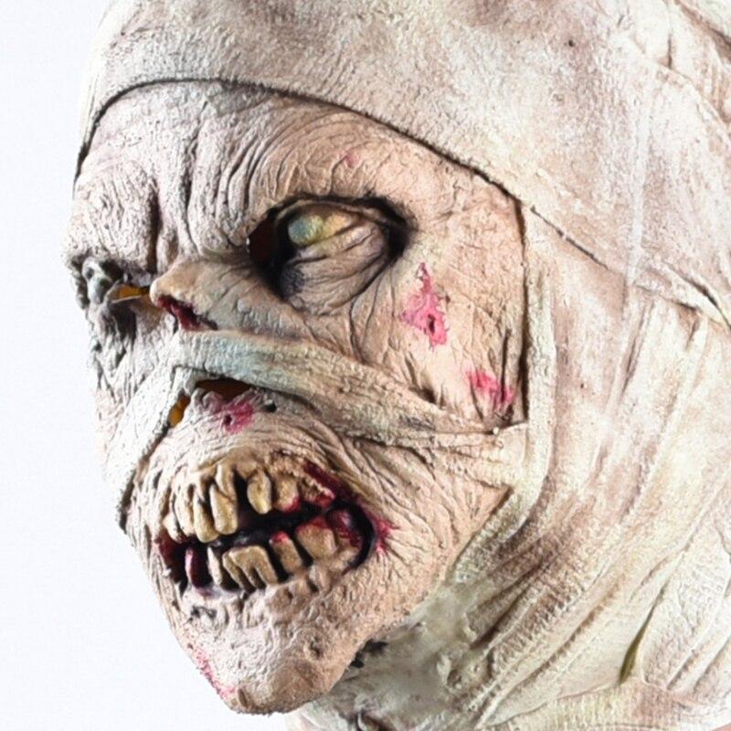 A Múmia Máscara De Halloween do Látex Assustador Horror máscaras de látex de Borracha realista mumificados Pinhead Demônio Parasita Máscaras