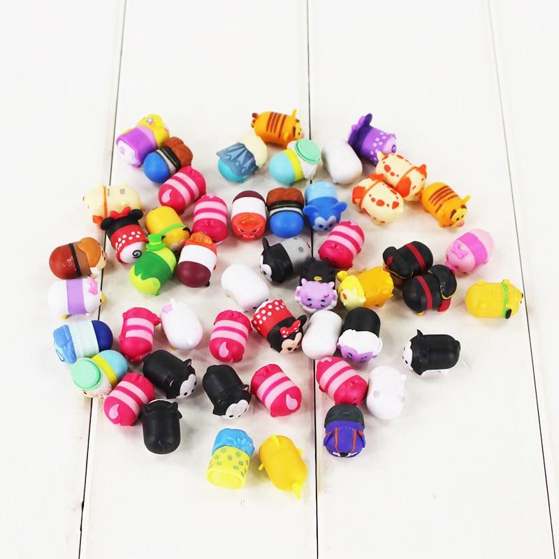 50pcs/lot Tsum Tsum Jenga Minnie Mickey Winnie Dumbo Daisy Tigger Piglet Eeyore Stitch Inside Out PVC figure Toy