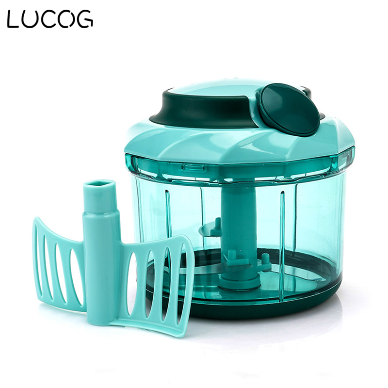 LUCOG Household Meat Slice Machine Kitchen Meat Pepper Grinder Beef Pork Fish Vegetable Spice Food Mincer