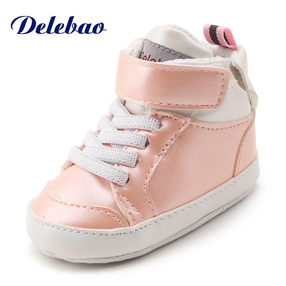 2018 Nieuwe PU-leer babyjongen Meisjesschoenen Klittenband-sneakers - Baby schoentjes - Foto 1
