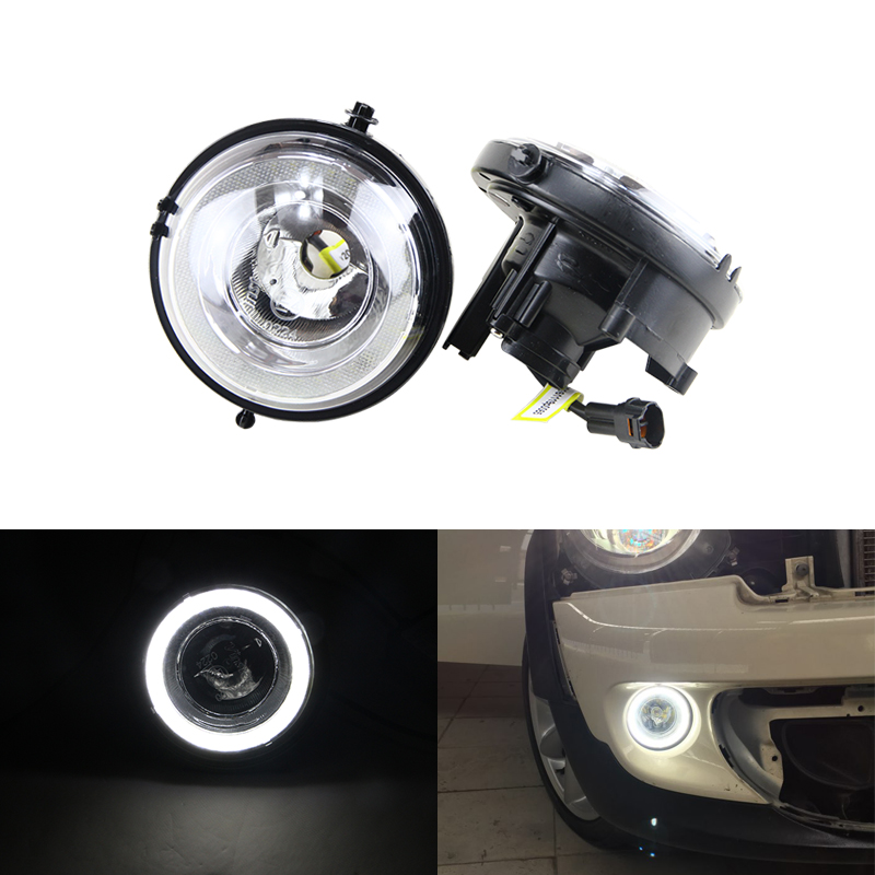 New E4 CE Led Daytime Running DRL Fog Light Halo Ring Kit For Mini Cooper R55 Clubman R60 Countryman R61 Paceman R57 R58 R56 F56 mini outside rearview side mirror decoration and protection cover for mini cooper countryman clubman r55 r56 r57 r58 r59 r60 r61