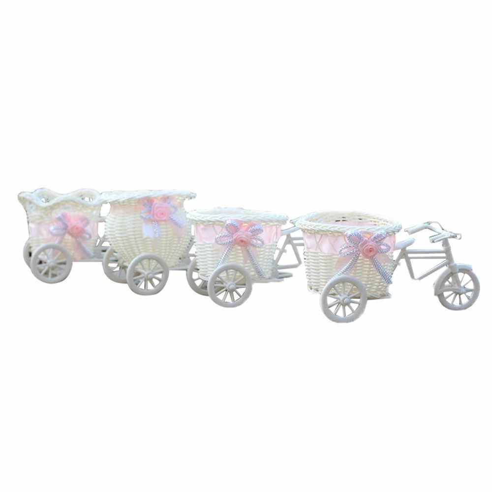 كبير الروطان دراجة ثلاثية العجلات سلة للزهور زهرية تخزين ديكور حفلات حديقة النبات زارع ديكور وعاء حفل زفاف لصالح ديكور #10