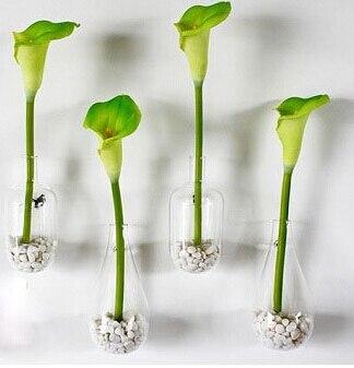 2pcs/lot Flower Vase Home Decoration Glass Vase Decorative Vases Home Wall  Decor Flower Pots