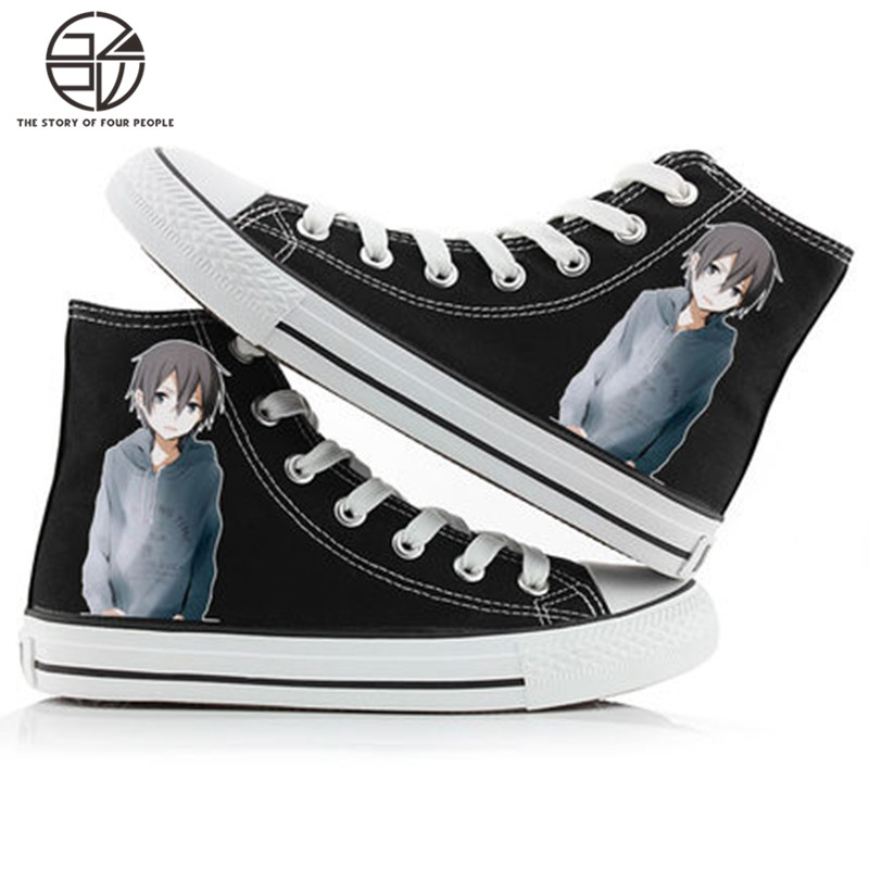 Gzpw cosplay High Quality Sword God domain role play advanced canvas shoes fashion anime men and women canvas shoes 35-43