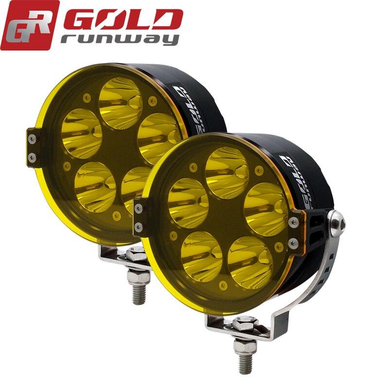 2pcs Goldrunway  Universal LED Motorcycle Headlight Mount Driving Fog Spot Head Light