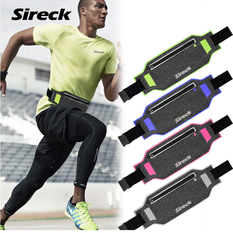 Sireck Running Bag Waterproof Running Waist Bag Fanny Pack Men Women Jogging Belt Gym Fitness Bag Sport Bike Accessories