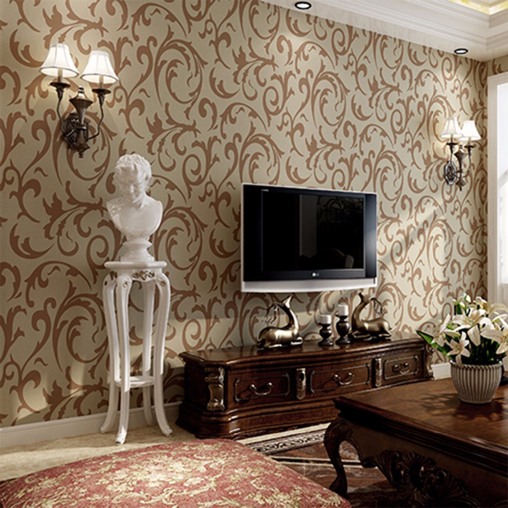 Beibehang European hook flower three-dimensional thick deerskin cashmere wallpaper 3D embossed non-woven background 3d wallpaper three dimensional analysis of non planar coupled shear walls