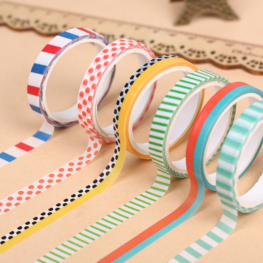 9 pcs slim washi tape british pattern masking tapes for. Black Bedroom Furniture Sets. Home Design Ideas