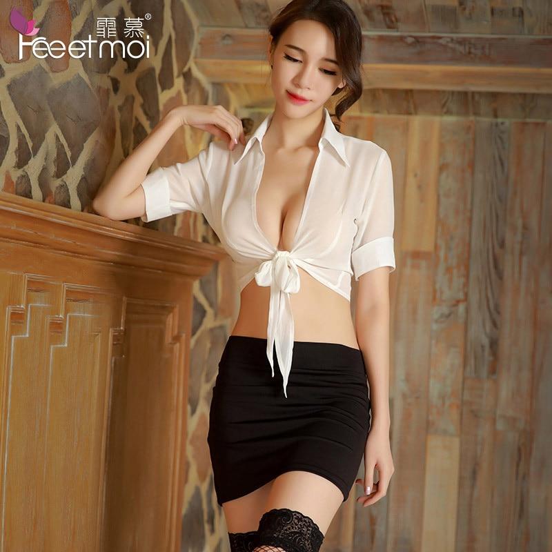 Secretaries Garter - US $12.98  2018 New Sexy Erotic Lingerie Uniforms Temptation Secretary  Cosplay Set Hot Sex Porn Baby Doll Lingerie Underwear Negligee-in Babydolls  & ...