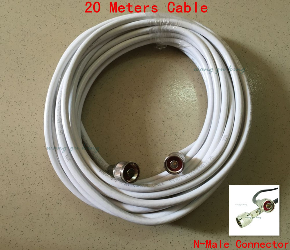 Ultra Low Loss High Quality 20 Meters 50ohm 75-5 Coaxial Cable Extension Cable For Mobile Signal Repeater / Antenna / Splitter