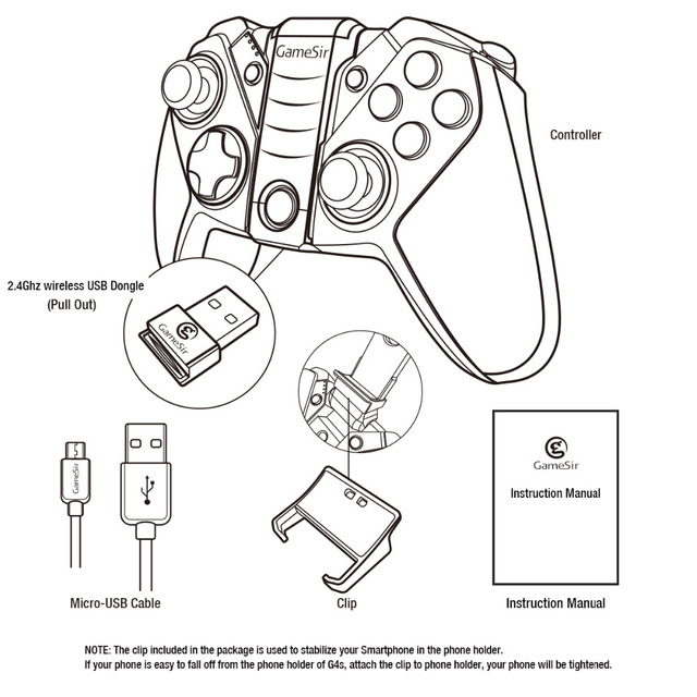 GameSir G4s Moba Controller,Rules of survival Controller Bluetooth Gamepad For Android Phone TV BOX Tablet PS3 Console Joystick 6