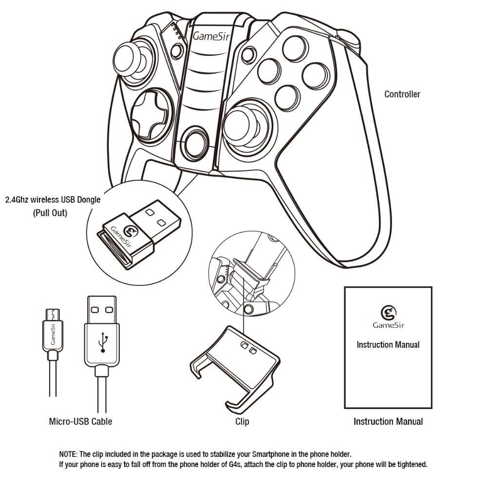 GameSir G4s Moba contrôleur, règles de survie contrôleur Bluetooth manette pour Android téléphone TV BOX tablette PS3 Console Joystick - 6