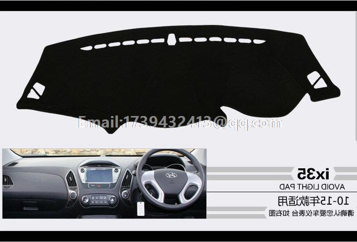 for Hyundai tuscon ix35 2009 2010 2011 2012 2013 2015 2014 dashmats car-styling accessories dashboard cover RHD