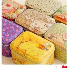 Матовая квадратная коробка для хранения ювелирных изделий презерватив металлическая коробка конфеты подарок карточная коробка для олова